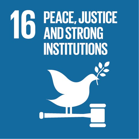 Sustainable Development Goal 16 Promote peaceful and inclusive societies for sustainable development, provide access to justice for all and build effective, accountable and inclusive institutions at all levels